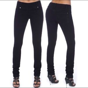 Second Yoga Jeans High Rise Long Straight Black 27